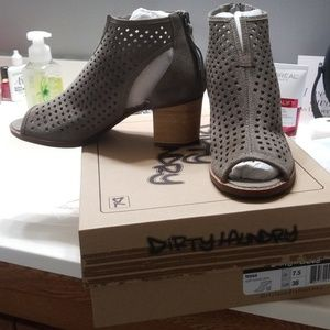 Peep Toe Leather Bootie by Dirty Laundry New